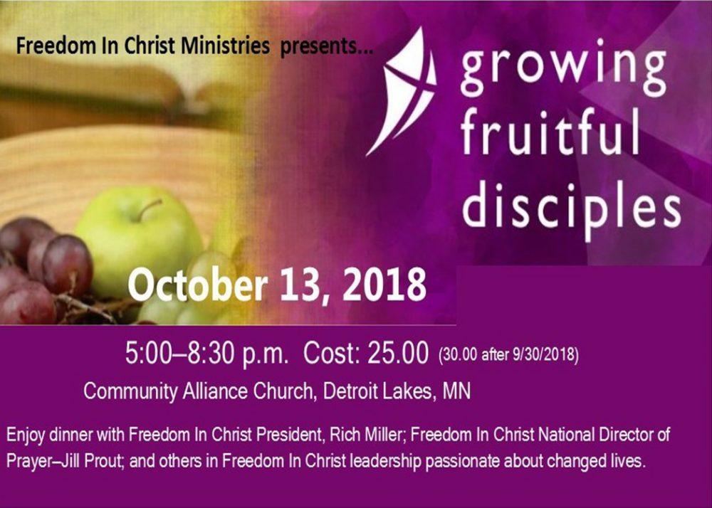 Growing Fruitful Disciples Registration